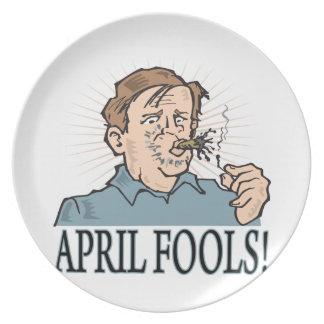 April Fools Dinner Plates