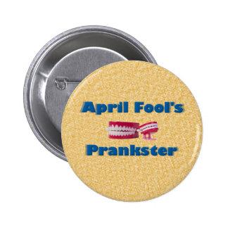 April Fool's Prankster Pinback Button