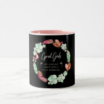 April Girls Are Sunshine, Flowers Birthday Gift Two-Tone Coffee Mug