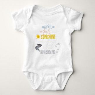 APRIL Girls Sunshine and Hurricane Birth Month Baby Bodysuit
