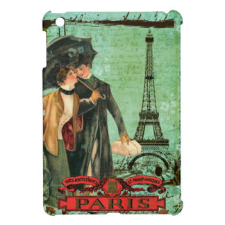 April in Paris Eiffel Tower Romantic Couple Cover For The iPad Mini