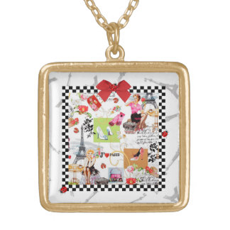 April in Paris Gold Plated Necklace