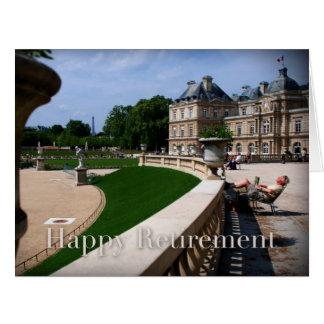 April in Paris Happy Retirement Large Card