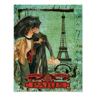 April in Paris Poster print