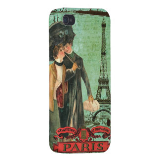 April in Paris Vintage Postcard Inspired Design iPhone 4/4S Cover