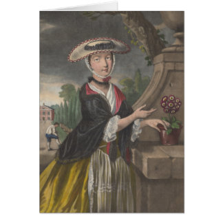 April is a Woman - 1767 Allegory Card