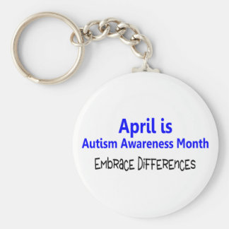 April Is Autism Awareness Month Embrace Difference Keychain