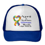 April is Autism Awareness Month Mesh Hat