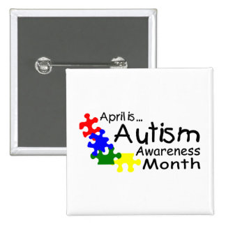 April Is Autism Awareness Month (PP Button