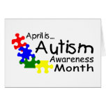 April Is Autism Awareness Month (PP) Greeting Cards