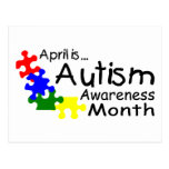 April Is Autism Awareness Month (PP) Postcards