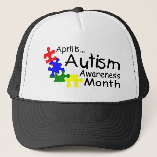 April Is Autism Awareness Month (PP) Trucker Hat