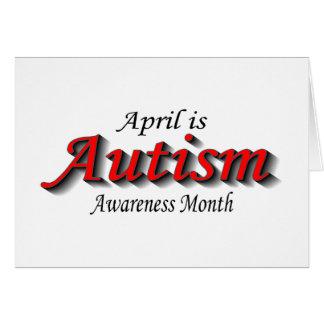 April Is Autism Awareness Month (RedBlk) Card