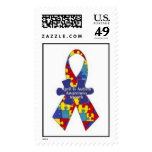 April Is Autism Awareness Month Ribbon Postage Stamp