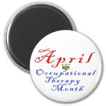 April is Occupational Therapy Month 2 Inch Round Magnet