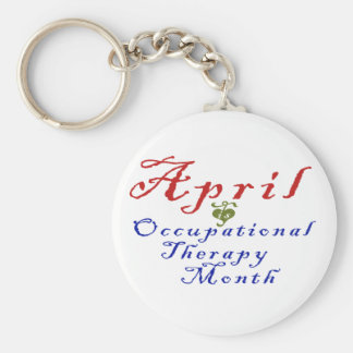 April is Occupational Therapy Month Basic Round Button Keychain