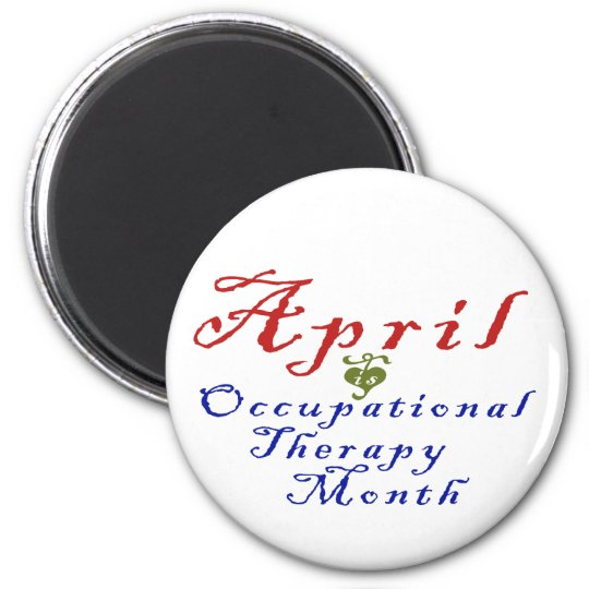 April is Occupational Therapy Month Magnet
