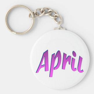 April Keychain