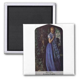 April Love By Arthur Hughes Refrigerator Magnets