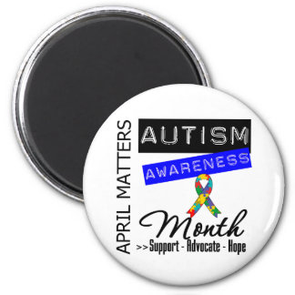 April Matters - Autism Awareness Month 2 Inch Round Magnet
