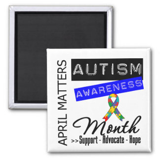 April Matters - Autism Awareness Month 2 Inch Square Magnet