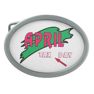 April - oval belt buckle