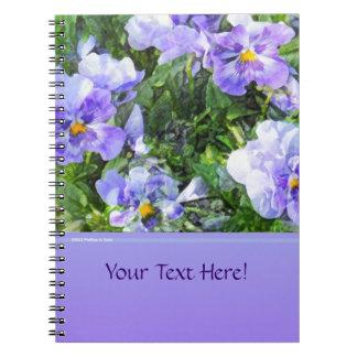 April Pansies Spiral Note Book