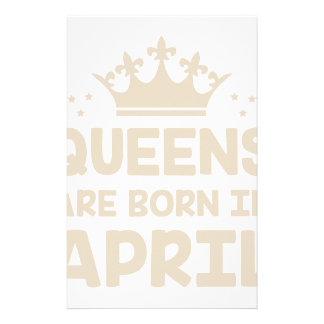 April Queen Stationery