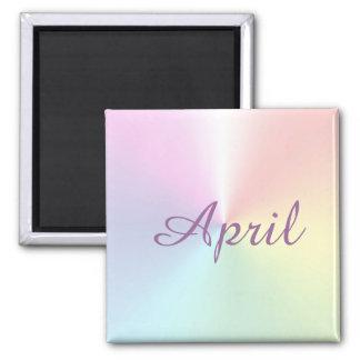 April Shimmer Square Magnet by Janz