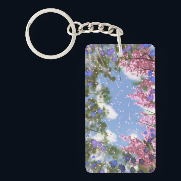 April Showers Acrylic Keychain