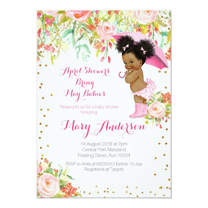 African American Baby Shower Invitations | Shilohmidwifery.com