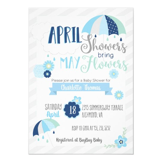 April showers baby shower invitation zazzle april showers baby shower invitation filmwisefo