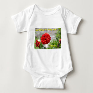 April showers bring May flowers. Baby Bodysuit