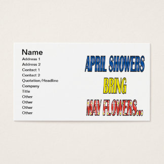 April Showers Bring May Flowers Business Card