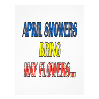 April Showers Bring May Flowers Flyers