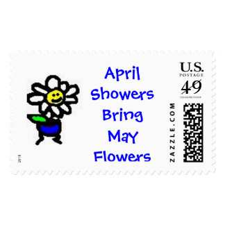 April Showers Bring May Flowers Postage