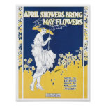 April Showers Bring May Flowers Songbook Cover Poster