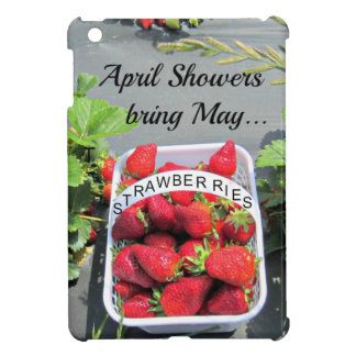 April Showers bring May...STRAWBERRIES! iPad Mini Cases