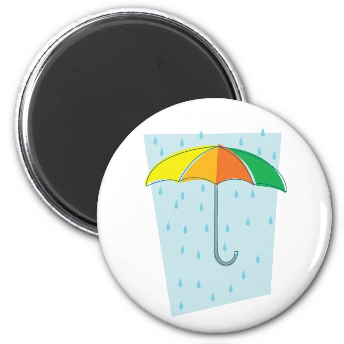 April Showers Brolly 2 Inch Round Magnet