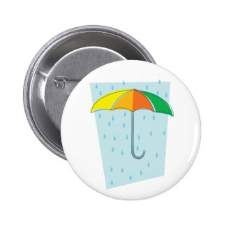 April Showers Brolly 2 Inch Round Button
