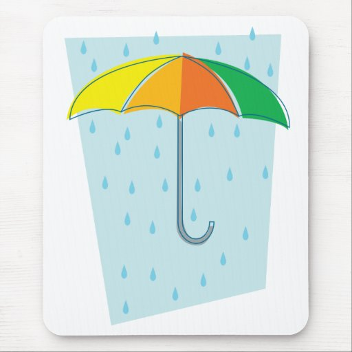 April Showers Brolly Mouse Pads