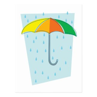 April Showers Brolly Post Card