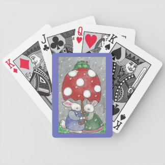 april showers bunnies bicycle playing cards