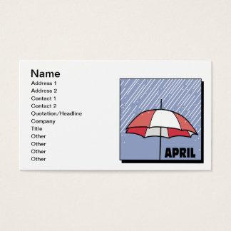 April Showers Business Card