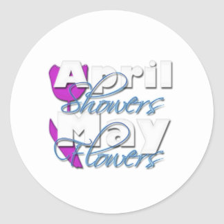 April Showers Classic Round Sticker