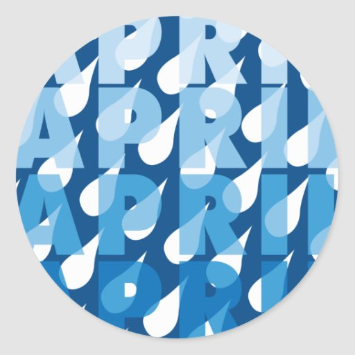 April Showers Classic Round Sticker