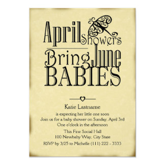 April Showers June Baby Card