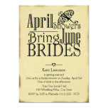 April Showers June Brides Card