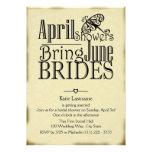April Showers June Brides Invitations