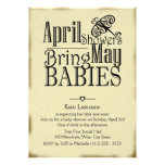 April Showers May Baby Personalized Announcements